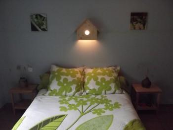 Chambre double lentilles vertes du puy